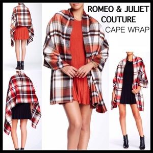 LUXE CAPE COZY BLANKET TOPPER PONCHO WRAP A2C